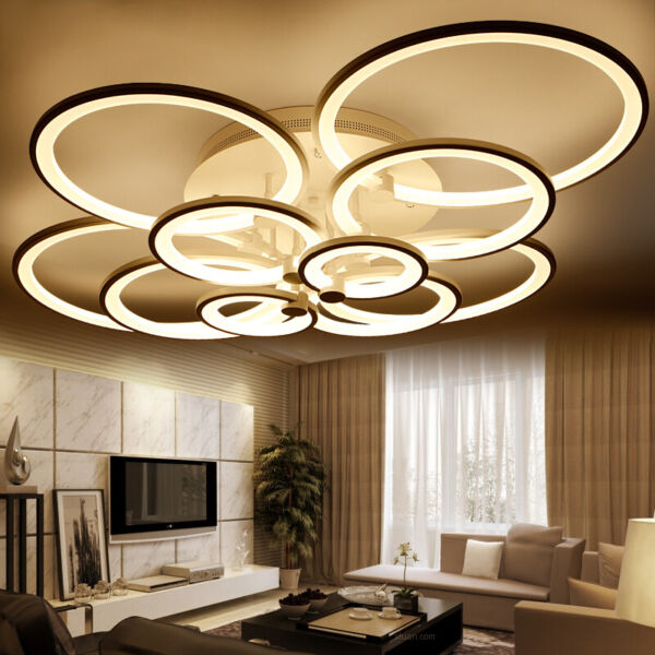 LED ceiling Lighting acrylic Lamp Fixture chandelier Curtain pendant home ring A