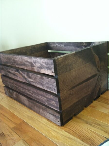 Vintage Stained Rustic Wood Crates- Special Order