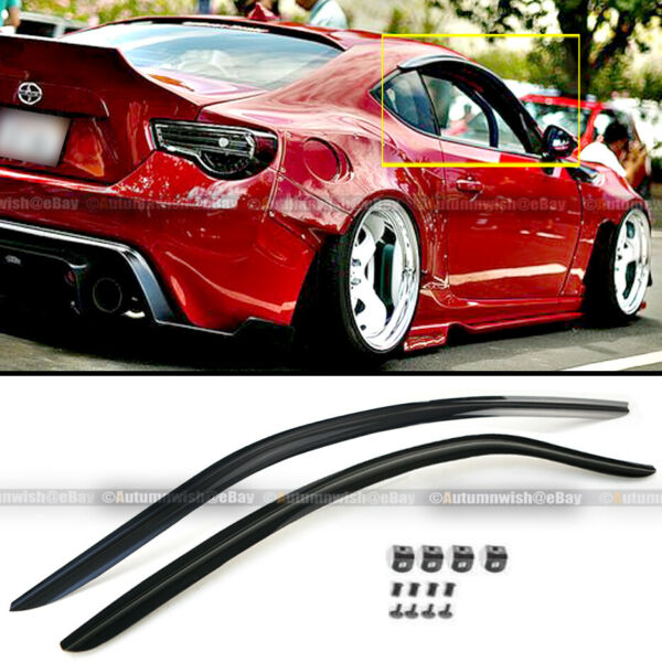 Fit 13-17 FR-S FRS BRZ Toyota 86 JDM Style Clip on Defector Shade Window Visor