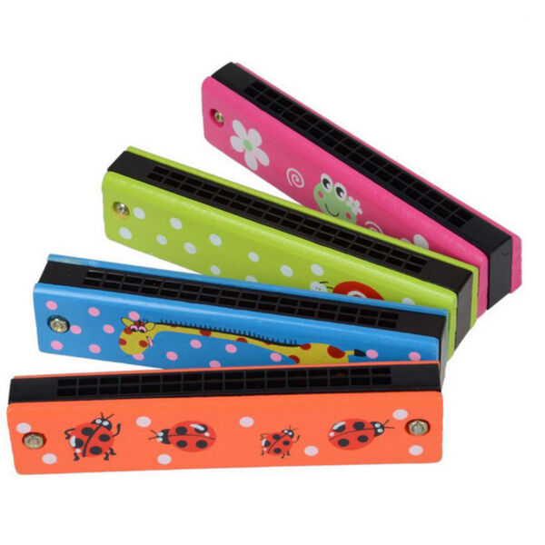Random Color Educational Musical Metal Harmonica Instrument Toy for Kids Gift US