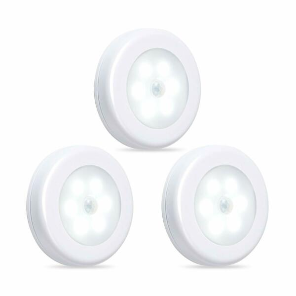 BN-LINK Motion Sensor LED Night Light Cordless Battery-Powered Light 3 Pack