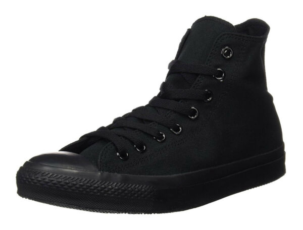 Converse Chuck Taylor All Star Hi Tops Black Mono All Sizes Mens Sneakers Shoes