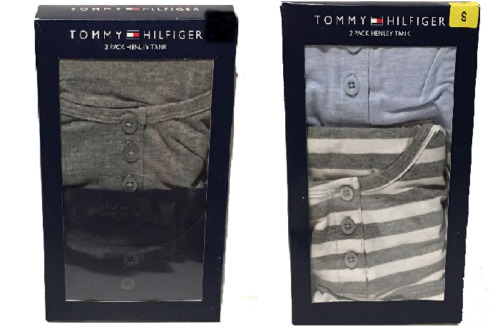 TOMMY HILFIGER WOMEN#x27;S 2 PACK HENLEY TANKS Pick Size S M or L New $11.75
