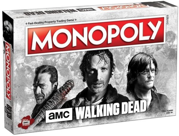 Custom Monopoly Game, Play Toys Board Games The Walking Dead Zombies Film Action