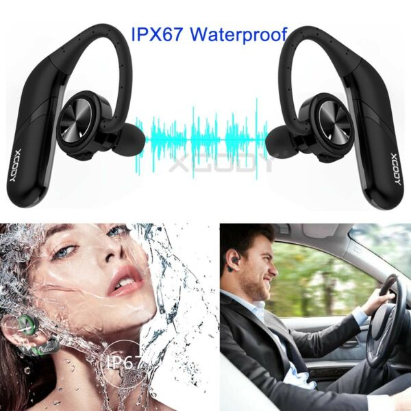 Bluetooth Headphones True Wireless Earbuds Twins Stereo Headset with Mic Bass