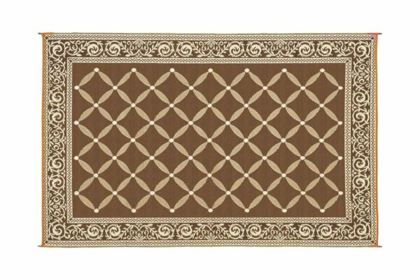 Indoor Outdoor Patio Mat RV 9#x27;x12#x27; Reversible Camping Picnic Carpet Deck Rug Pad