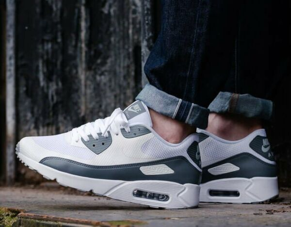 New NIKE Air Max 90 Ultra 2.0 Men's Sneakers white gray all sizes