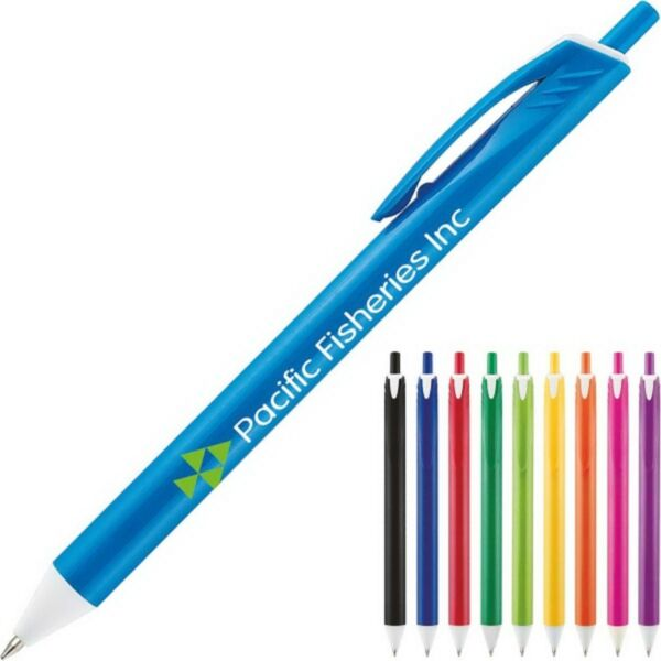 250 Personalized Allan Vivid Retractable Pen Printed With Your Logo or Message