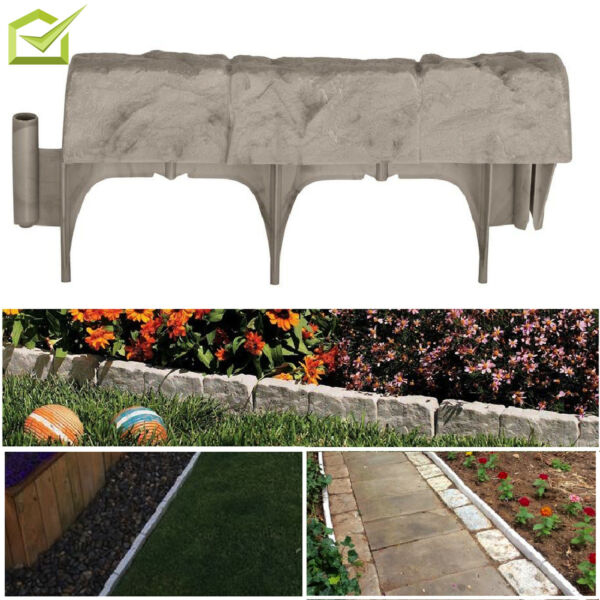 Garden Border Edging Stone Outdoor Decor Edge Landscape Stone Resin Faux Lawn