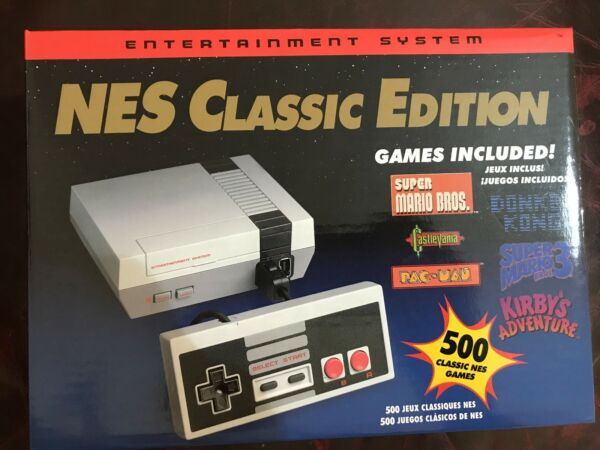 Mini Video Game Console with 500 NES Games 2 Controllers 8-bit NEW Priority Mail