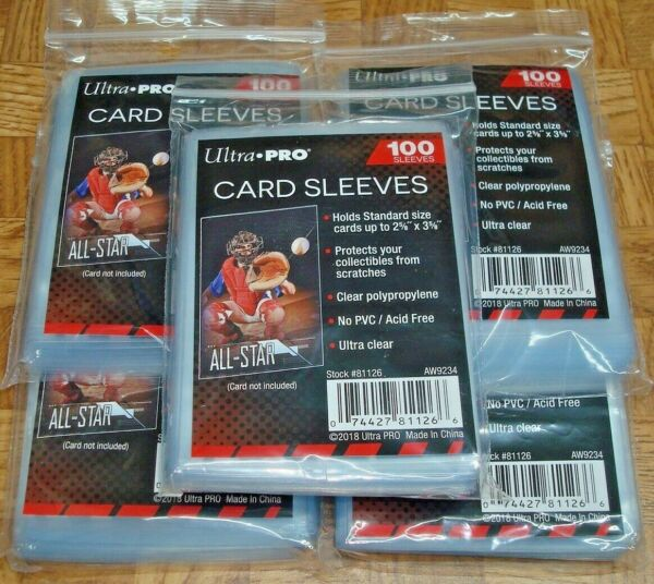 500 ULTRA PRO SOFT TRADING CARD PENNY SLEEVES BASEBALL MAGIC POKEMON FOOTBALL