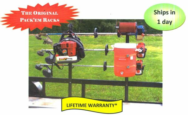 ALL IN 1 3 Place Trimmer Blower Trim Line Beverage Open Trailer Rack PK 6 OP1 $229.95