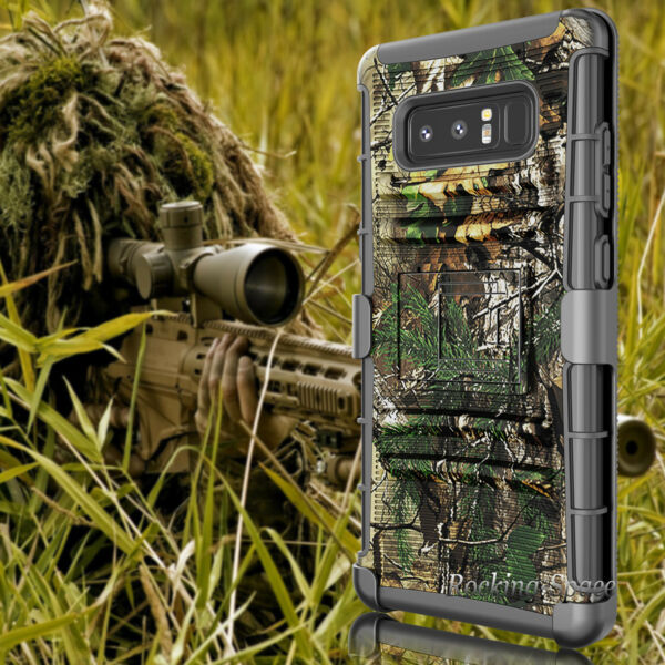 Military Shockproof Hybrid Camo Armor Holster Belt Clip Case Cover for Cellphone $7.98