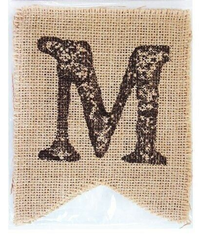 Mr and Mrs Wedding Burlap Banner Pieces Party Decor