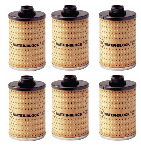 6 Goldenrod 496 5 Water Block Fuel Filters New $88.49