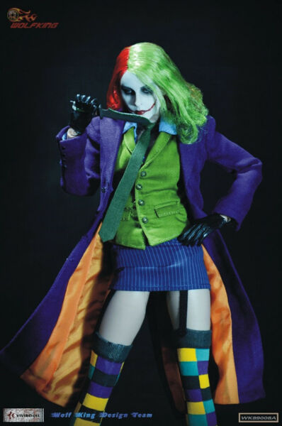 NEW WOLFKING 1/6 Female Joker Action Figure IN STOCK