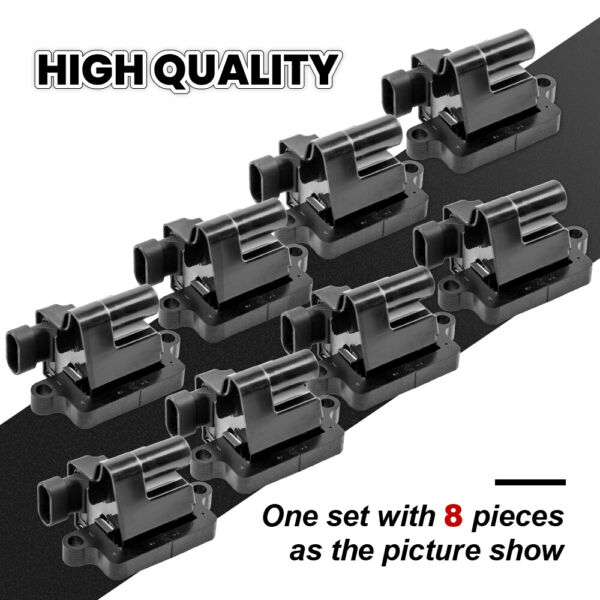 8 Ignition Coil Packs For Chevy Tahoe Hummer H2 GMC Yukon Cadillac UF271 D581