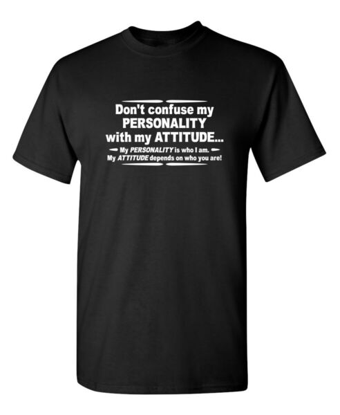 Dont Confuse Attitude Sarcastic Cool Graphic Gift Idea Adult Humor Funny T Shirt $14.44