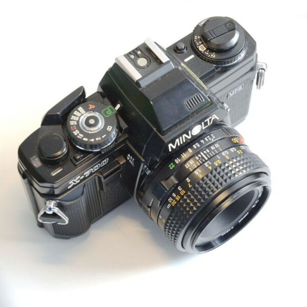 Minolta X-700 Manual Camera with MD 50mm f2.0 Lens for Photography Students