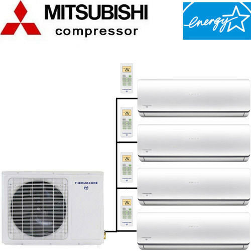 Quad Zone ENERGY STAR Ductless Mini Split Air Conditioner - Heat Pump 21-22 SEER