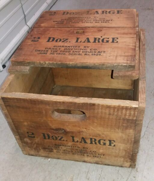 VINTAGE PABST BREWING CO. WOOD CRATE RARITY!! NICE CONDITION!! RARE!!
