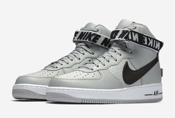 NIKE AIR FORCE 1 HIGH 315121-044 Flight Silver Black
