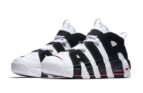 Nike Air More Uptempo 414962-105 White Black Varsity Red Men BRAND NEW SHIPS NOW