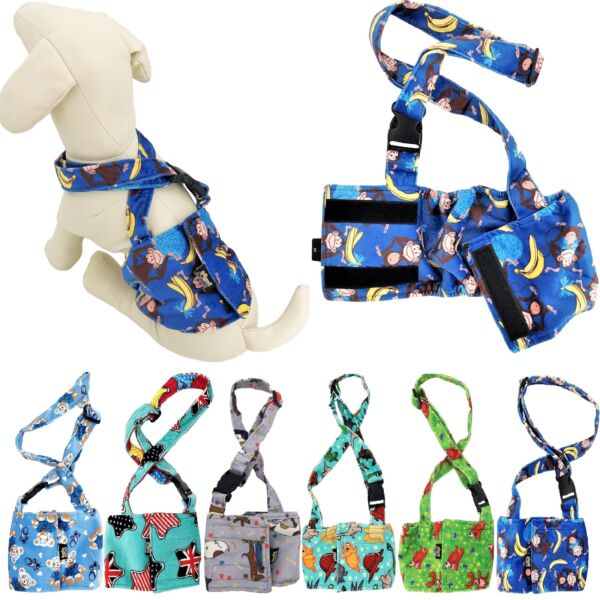 Dog BELLY BAND Wrap Diaper Male Reusable Washable SOFT Fleece With SUSPENDERS $10.99