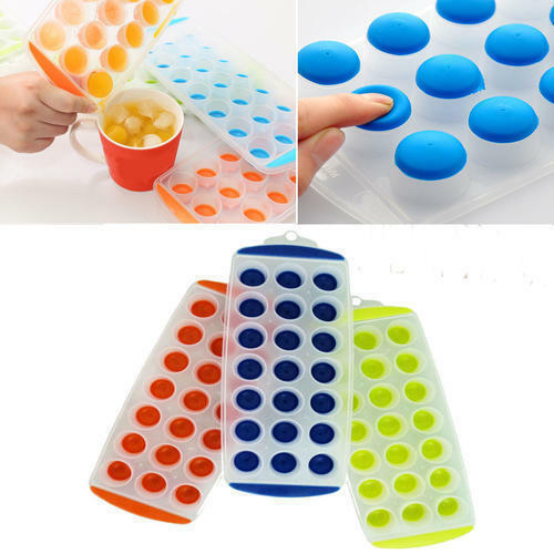 3 pack Silicone Ice Cube Trays Easy Pop Out BPA Free $8.99