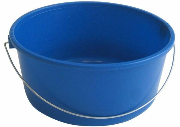 12-Pack 5Qt Wide Mouth Bucket Tip Resistant Parts Cleaning Grouting Plastic Pail