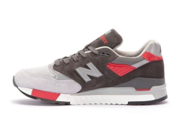 $180 NEW BALANCE 998 size 9.5 M998CPL MADE IN USA Grey/Red Size