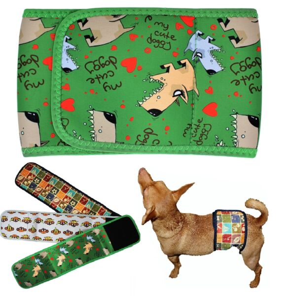 Dog BELLY BAND Male Diaper Wrap Reusable Washable NEOPRENE Small Large XXS XXXL $14.99