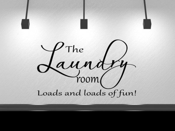 Laundry Room Loads of Fun Wall Decal Sticker Decor 14