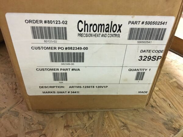 CHROMALOX CAT #ARTMS-1250T8; PN 156-500602-541 IMMERSION HEATER