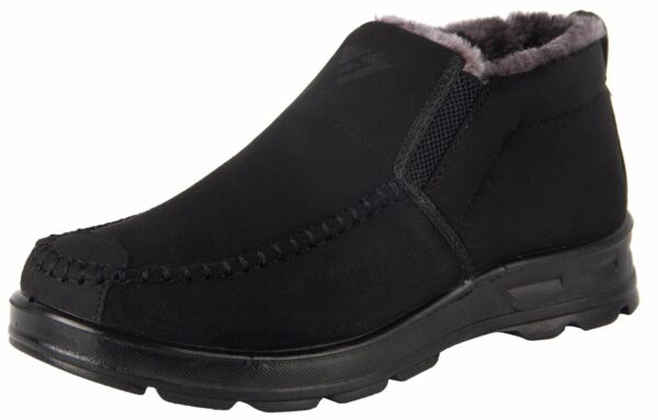 iLoveSIA Men's Warm Fur Lining Winter Outdoor Casual Shoes Snow Ankle Boots