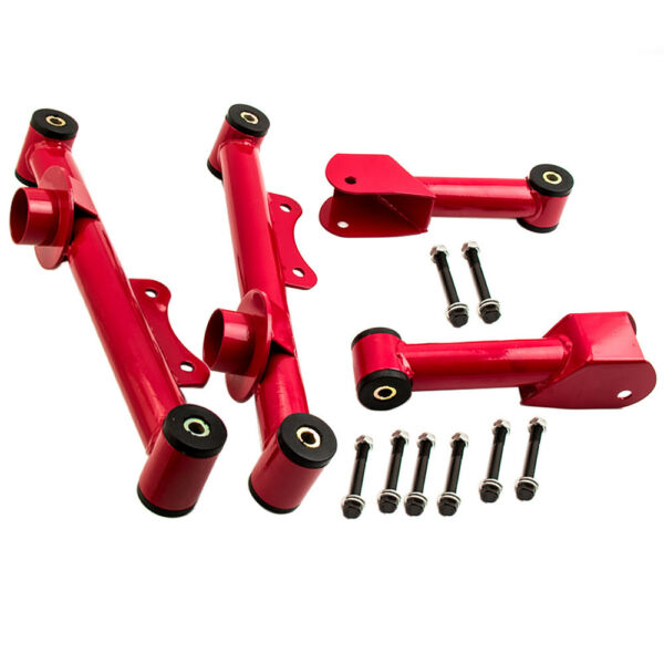 For Ford Mustang 79-04 Upper Lower Rear Tubular Control Arms w Hardware 4 PCS