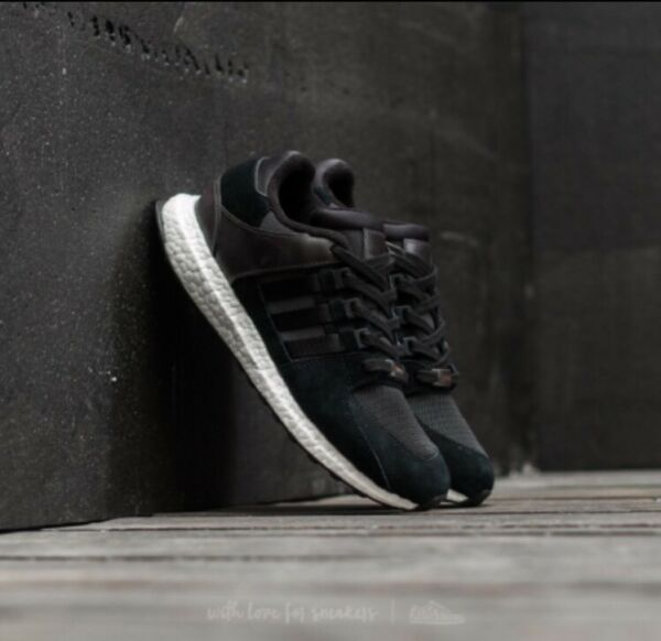 Adidas EQT Support Ultra Boost Black White Shoes Sneakers BA7475 Mens Sz 10.5