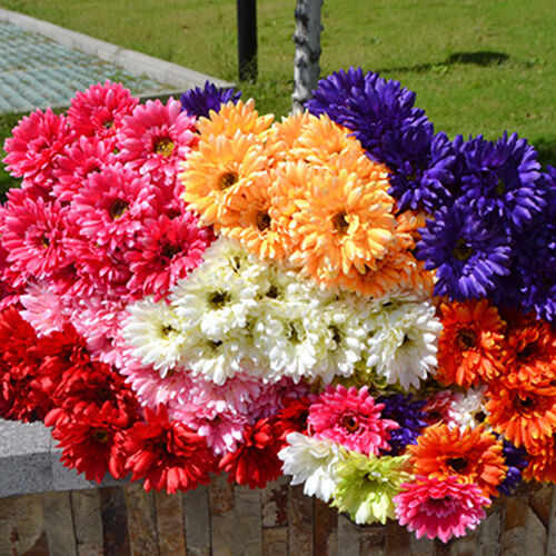 EP_  Artificial Silk Gerbera Daisy Flower Wedding Party Bouquet Home Garden Deco