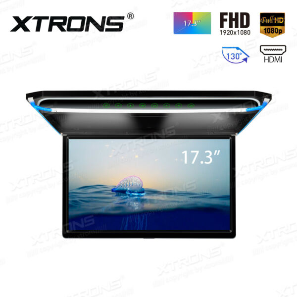 17.3quot; Car Overhead Ceiling Roof Mount Monitor Flip Down 1080P Video HDMI Player $209.99