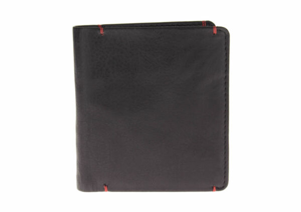 Luciano Natazzi RFID Blocking Mens Nappa Leather Bifold Wallet With Money Clip