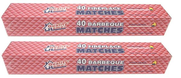 (80 Matches) Quality Home Barbeque and Fireplace Extra Long 11