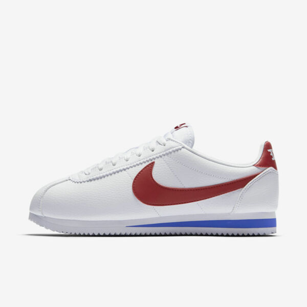 Nike Classic Cortez Leather FORREST GUMP 749571-154 White red Men size 8-13