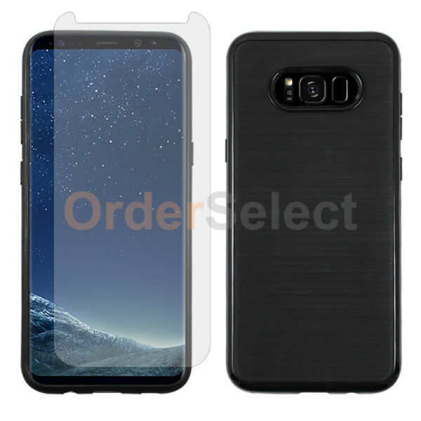 For Samsung Galaxy S8+ Plus Case Brushed Shockproof Cover+LCD Screen Protector