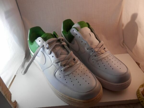 NIKE Air Force  AF-1 82 Men's sneakers  Silver & Green RARE signed