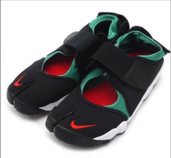 NIKE AIR RIFT QS BLACK-ATOMIC RED-FOREST Green WHITE 8 running shoes 789491-066