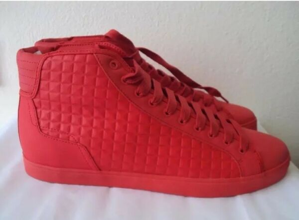 ZARA MAN RED HIGH-TOP SNEAKERS 11 EU 45  new rare dead stock