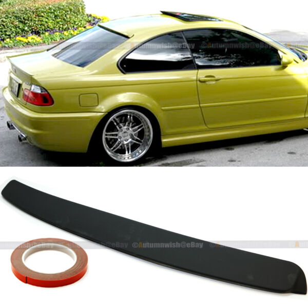 For 99-05 BMW 3 Series E46 2DR Unpainted Rear Window Roof Wing Spoiler Visor