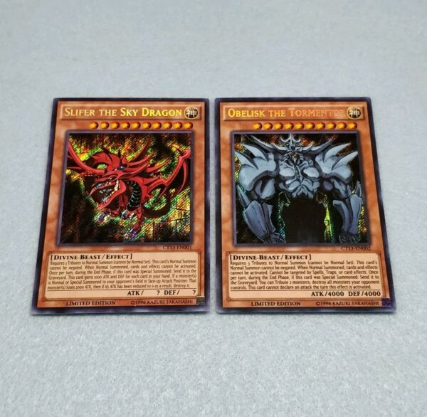 Yugioh Tournament Legal Egyptian God Cards Slifer the Sky Dragon Obelisk Lot