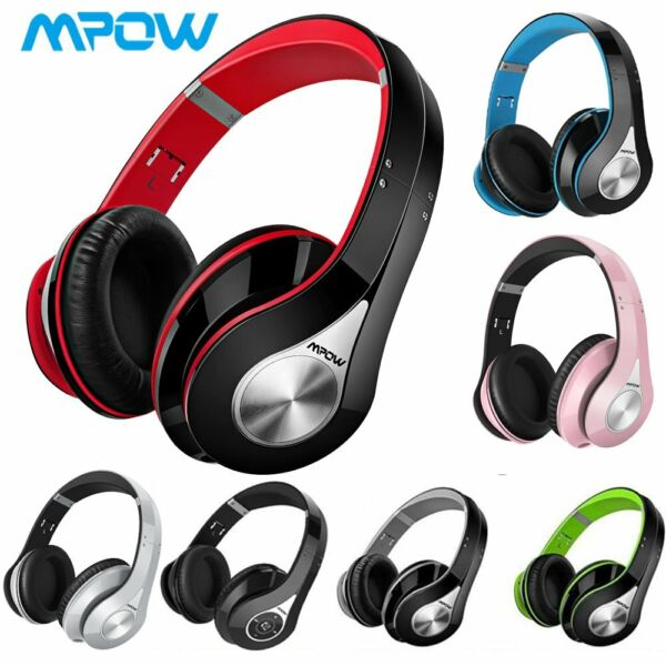 Mpow Wireless Bluetooth Over Ear Headphones Hi-Fi Stereo Headset Foldable 059 US