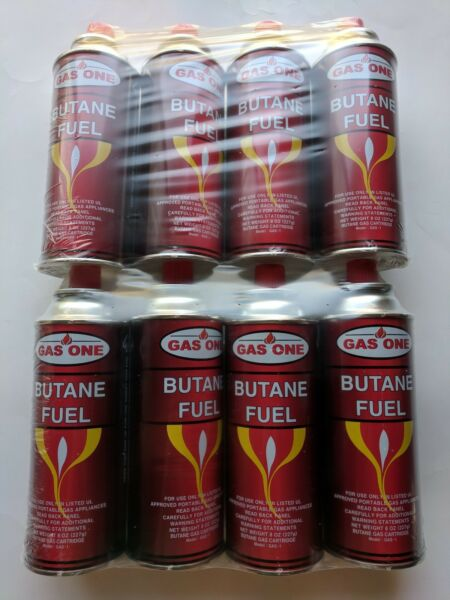 GasOne Butane Fuel Portable Stove Burner Camping 8 oz Canisters 8 Pack